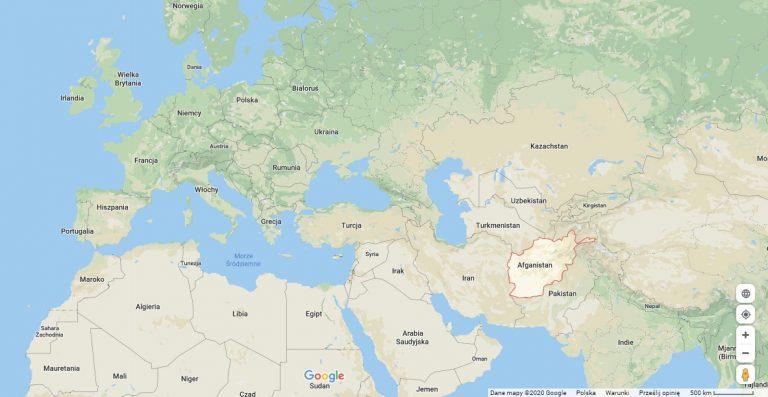Afganistan na mapie