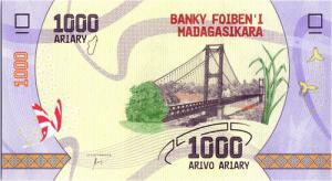 1000 ariary przód