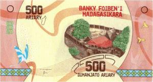 500 ariary przód