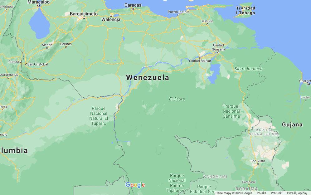 Wenezuela mapa