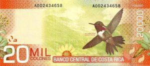20 tys. colonów kostarykańskich awers