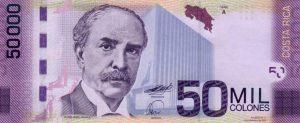 50 tys. colonów kostarykańskich awers