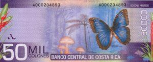 50 tys. colonów kostarykańskich rewers