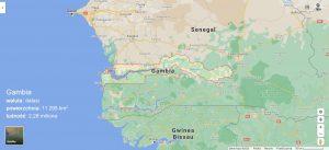 Mapa Gambii